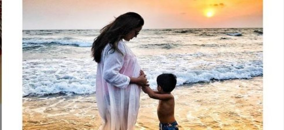 Sameera Reddy is proud mother of baby girl; shares first pic