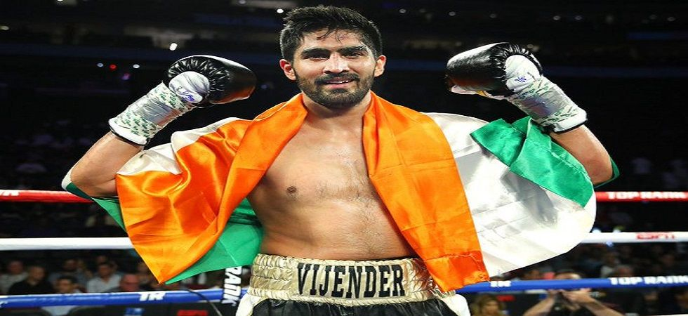 Vijender Singh won his 11th consecutive professional boxing bout in the US Professional circuit debut. (Image credit: Twitter)