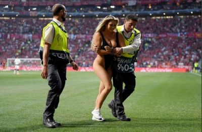 Kinsey Wolanski invaded pitch in black swimsuit during Champions League final