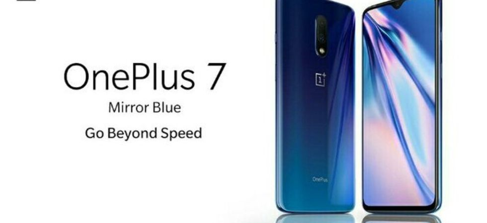 OnePlus 7 Mirror Blue colour variant (Photo Credit: Twitter)