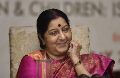 Kulbhushan Jadhav case: Sushma Swaraj congratulates nation, credits victory to PM Modi