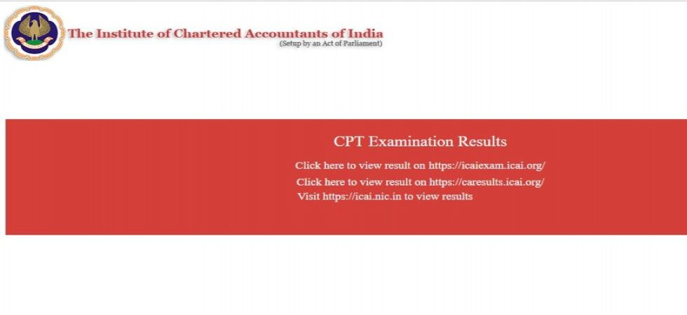 CA CPT June Session Exam 2019: Results out on icaiexam.icai.org