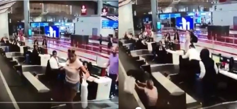 Woman boards luggage belt thinking it would take her to plane (Photo Credit: Twitter)