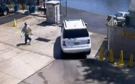 WATCH: Driver presses accelerator instead of brakes, car