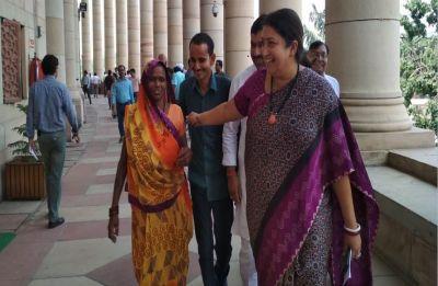 In Picture: Amethi MP Smriti Irani invites woman gram Pradhan to Parliament