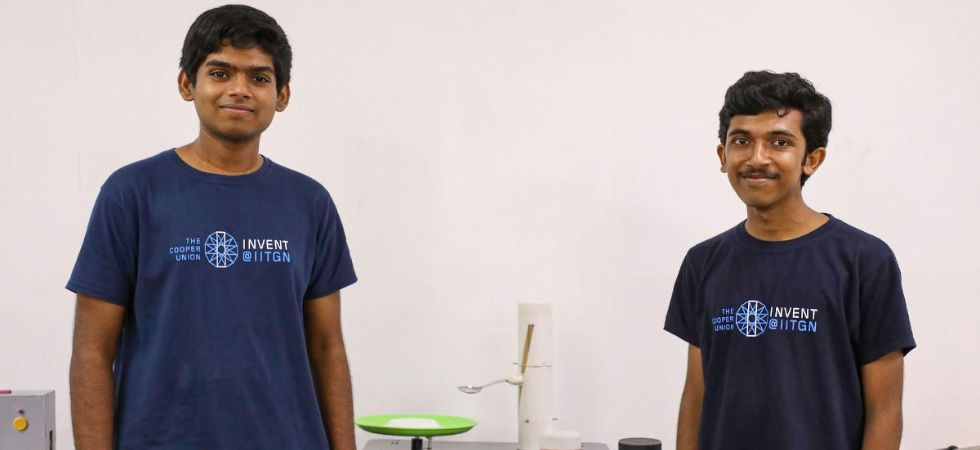Chris Francis and Praveen Venkatesh are from IIT Gandhinagar. (PTI Photo)