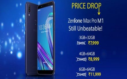 Asus ZenFone Max Pro M1 receives price cut in India, now