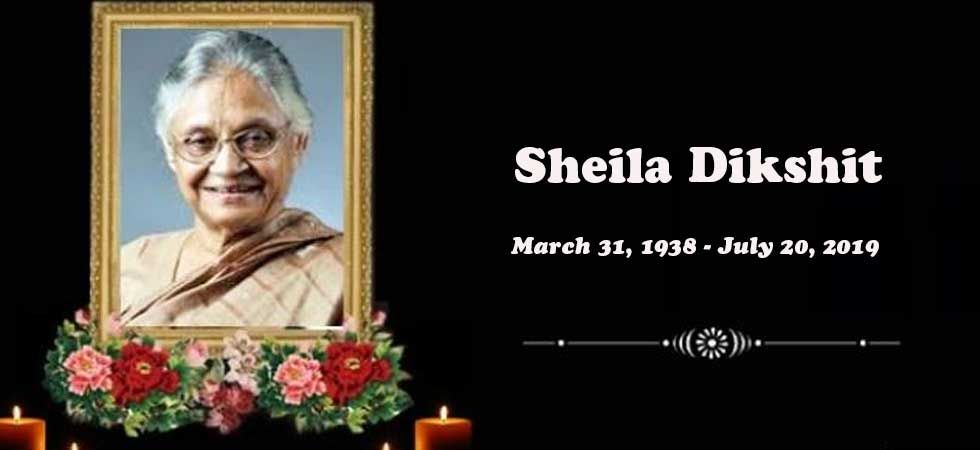Sheila Dikshit breathed her last at 3:55 pm at Delhi's Fortis Escorts Heart Institute on Saturday.