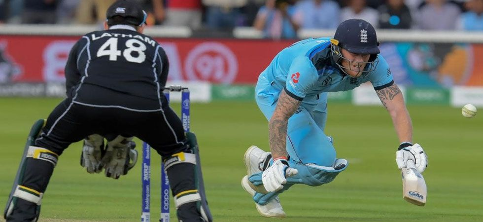 Martin Guptill's throw from the deep raced to the boundary ropes after being deflected from the bat of diving Ben Stokes. (Photo: Twitter)
