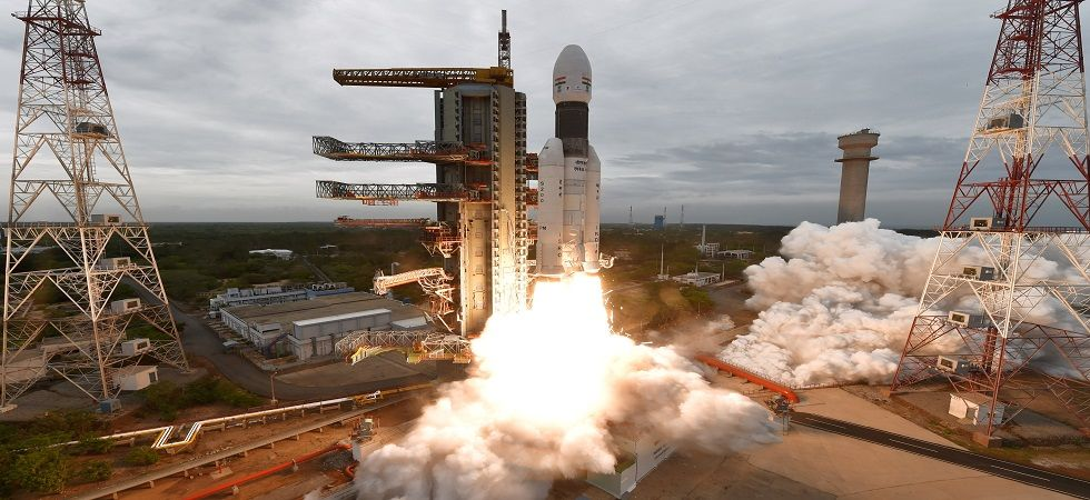 The geosynchronous satellite launch vehicle lifted-off from the Satish Dhawan Space Centre into cloudy skies at 2.43 pm. (ISRO)