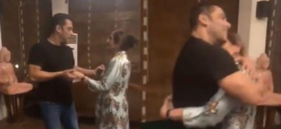 Salman Khan dances with his mother Salma on 'Cheap Thrills'.