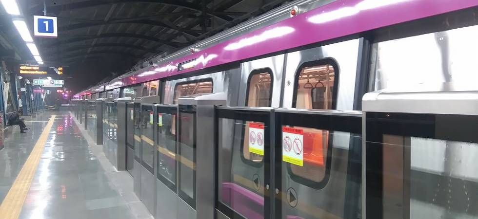 The Magenta line comprises of 16 stations with several interchanges. (File Photo)