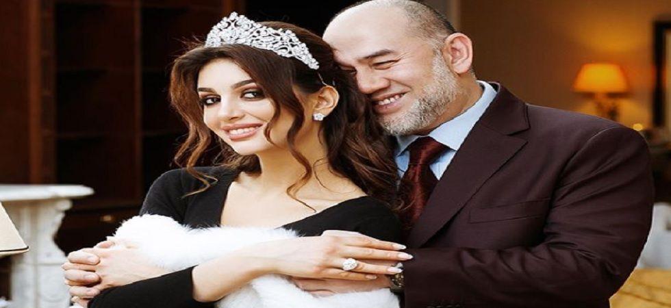 Rihana Oxana Gorbatenko and Sultan Muhammad V (Source: Instagram)