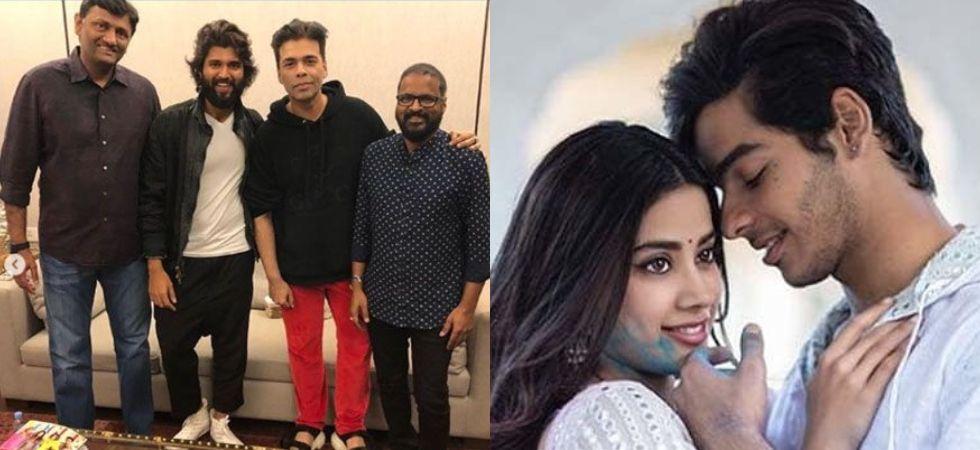 Karan Johar reacts to rumours of Janhvi -Ishaan in Hindi remake of 'Dear Comrade'