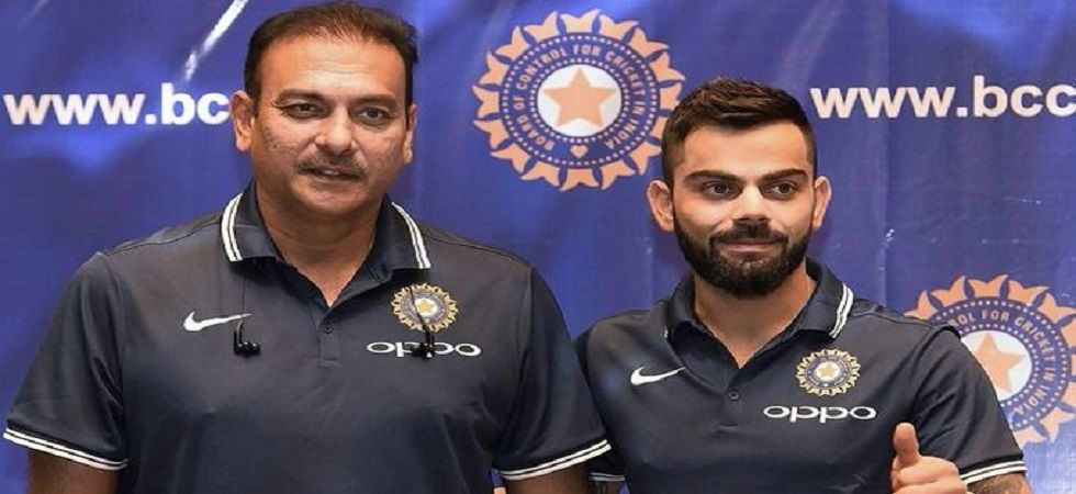 Ravi Shastri has been given an extension as head coach until the end of the West Indies tour. (Image credit: Twitter)