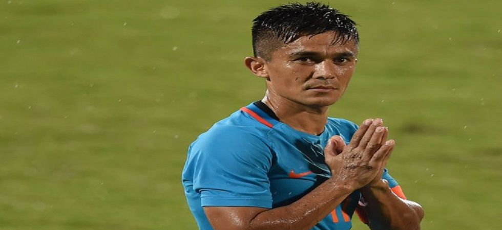Sunil Chhetri visited Udaipur to help grassroots development of football in the city. (Image credit: Twitter)