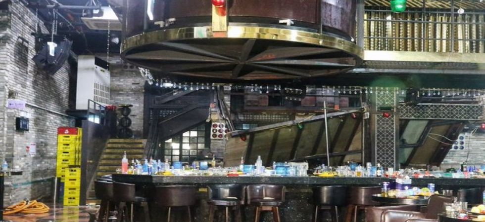 Two people were killed after a balcony collapsed under the weight of party-goers at a South Korean nightclub. (Image credit: CGTN Twitter)