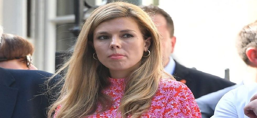 UK PM Boris Johnson's 31-year-old girlfriend Carrie Symonds (Credit: Twitter/ Jono_Barspeed)