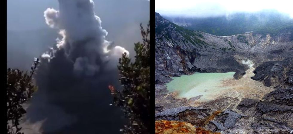Indonesia's Mount Tangkuban Parahu erupts leaving tourists shocked