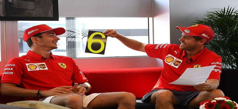 Sebastian Vettel and Charles LeClerc both struggled in the German Grand Prix qualifying in Hockenheim. (Image credit: Twitter)