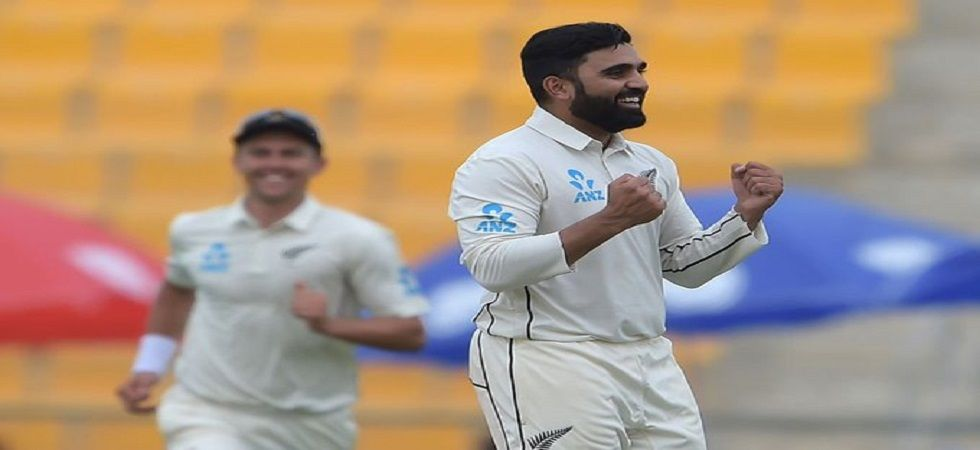 Ajaz Patel played a major role in New Zealand's Test series win against Pakistan which was their first at home after 49 years. (Image credit: Twitter)