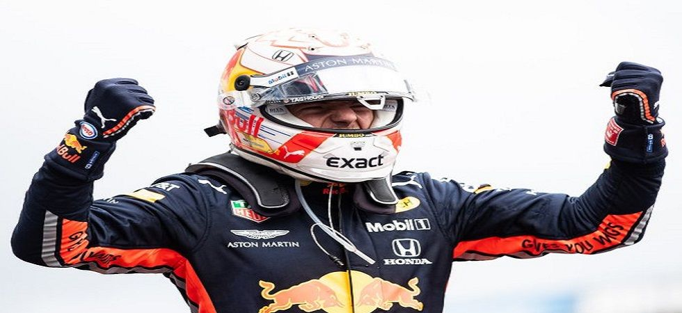Max Verstappen won his seventh career Grand Prix after clinching a win in chaotic conditions in Hockenheim. (Image credit: Max Verstappen Twitter)