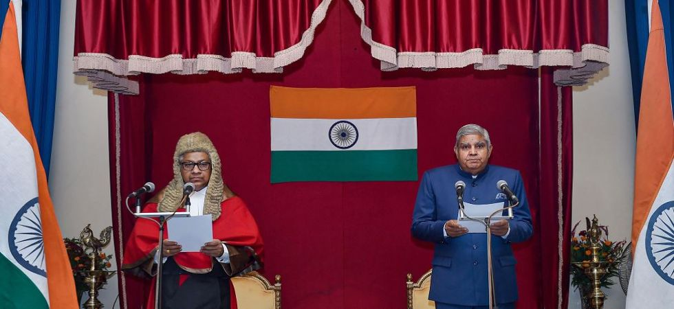 West Bengal Governor Jagdeep Dhankhar during a swearing-in ceremony at Raj Bhawan in Kolkata (Photo Source: PTI)