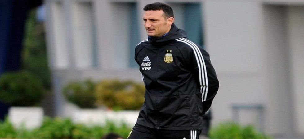 Lionel Scaloni was initially hired as interim coach last August, just over two weeks after Jorge Sampaoli was sacked following Argentina's last 16 elimination from the 2018 World Cup in Russia. (Image credit: Twitter)