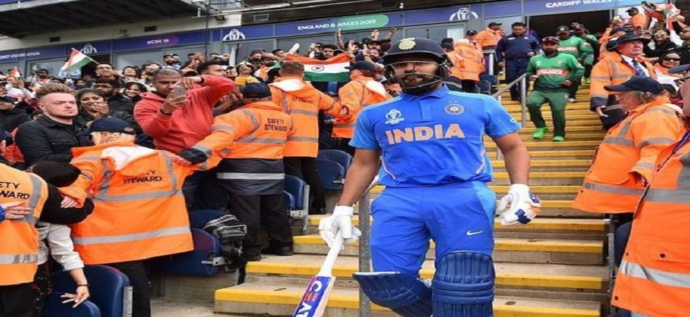 Rohit Sharma needs just four more sixes to break Chris Gayle's world record tally of 105 sixes in Twenty20 Internationals. (Image credit: Twitter)