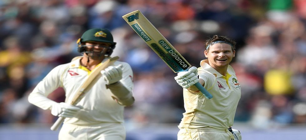 Steve Smith smashed his 24th Test century as Australia reached 284 against England at Edgbaston. (Image credit: Getty Images)