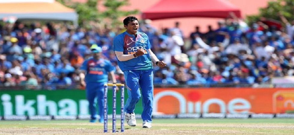 Navdeep Saini took 3/17 and made a dream debut as India won by four wickets to take a 1-0 lead in the Twenty20 series. (Image credit: BCCI Twitter)