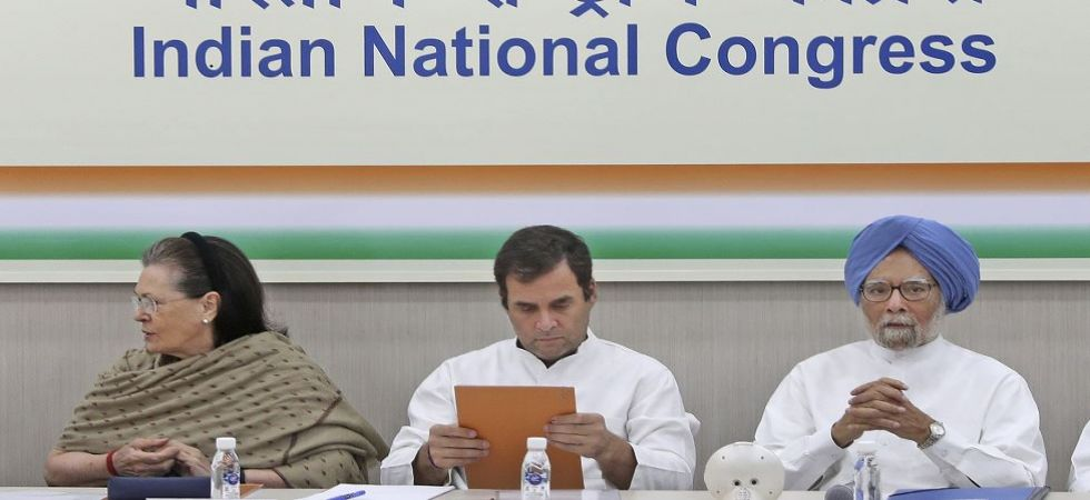Former Congress president Rahul Gandhi, UPA chairperson Sonia Gandhi and former prime minister Manmohan Singh (File Photo)