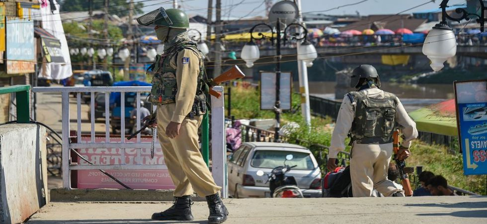 CRPF personnel guard as situation in Kashmir continues to be tense and uncertain (Photo Source: PTI)