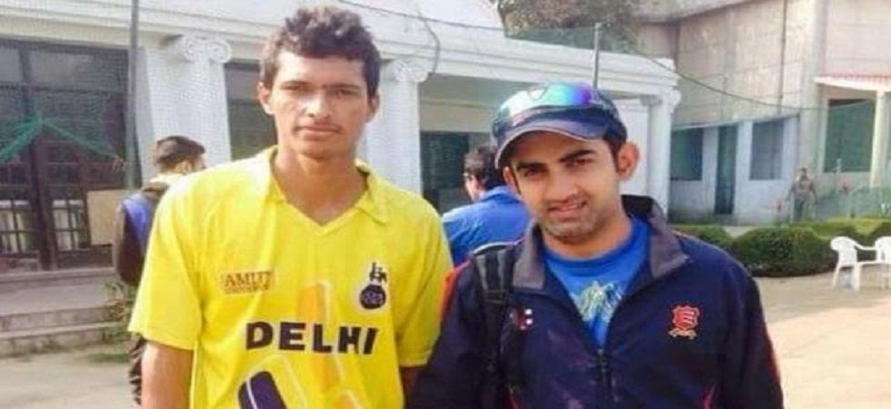 Gautam Gambhir had backed Navdeep Saini when the Karnal-born bowler wanted to make an entry into the Delhi Ranji Trophy team in 2013. (Image credit: Twitter)