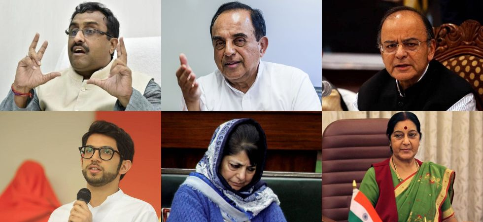 No Article 370 in Jammu and Kashmir: From Mehbooba Mufti to Ram Madhav, here's how top leaders reacted (Photo Credit: Twitter))