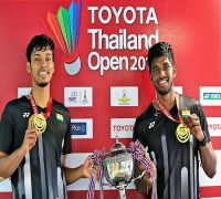 Rankireddy-Shetty become first Indian pair to win BWF Super 500 tourney at Thailand Open