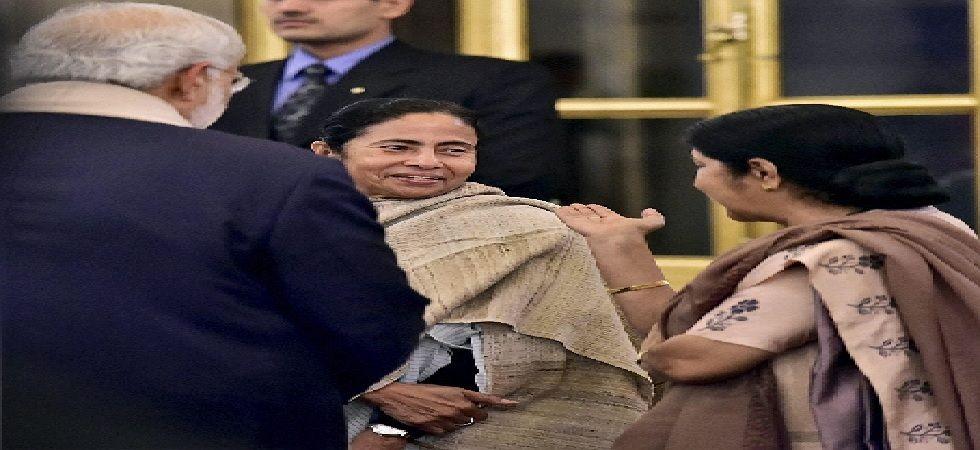 West Bengal Chief Minister Mamata Banerjee on Wednesday condoled the demise of former Union minister Sushma Swaraj (Photo: PTI)