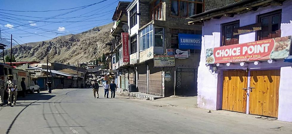 A view of a deserted street during shutdown in Jammu and Kashmir (Photo Source: PTI)