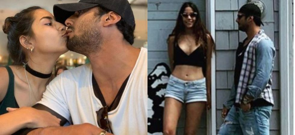 ​​Prateik Babbar's intimate kiss with wife Sanya Sagar on their US vacation