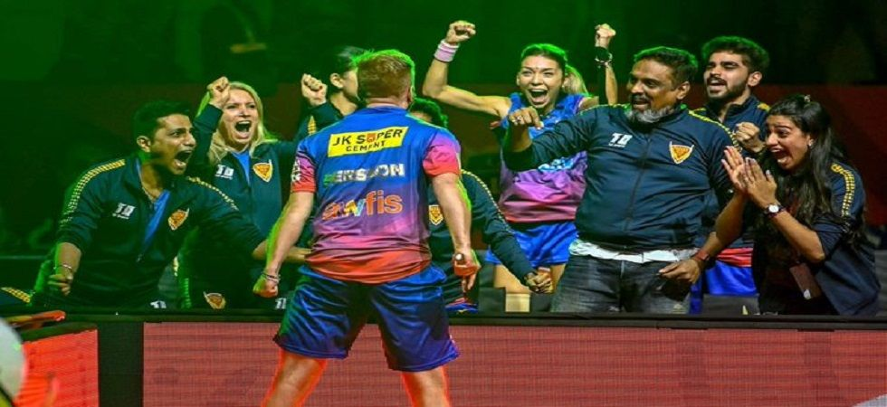 Dabang Delhi entered the final of the Ultimate Table Tennis tournament by beating U Mumba 8-7. (Image credit: Twitter)