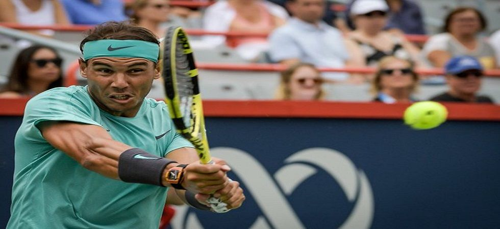 Rafael Nadal survived a three-set scare against Fabio Fognini as he entered the semi-final in Montreal. (Image credit: Twitter)