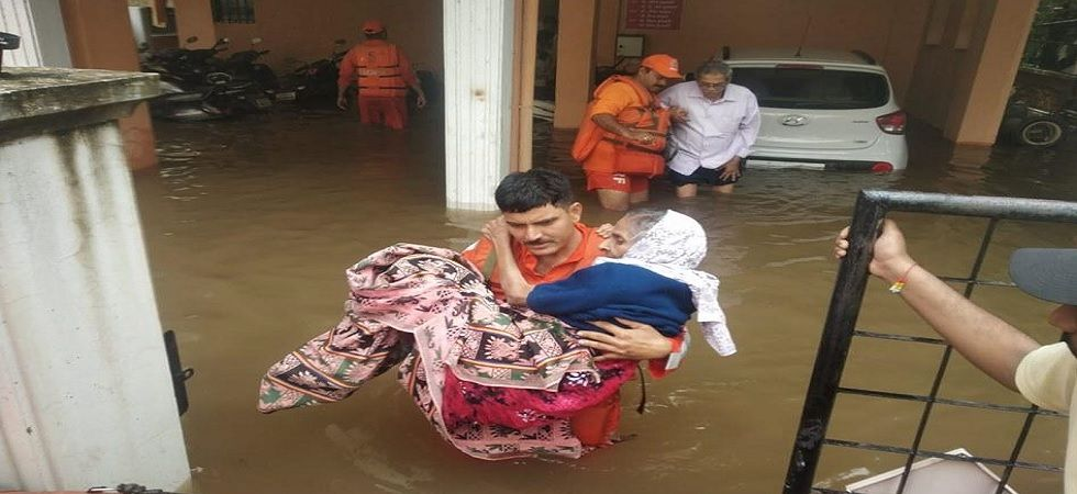 The death toll in Kerala rose to 76 on Monday, while in Karnataka, Gujarat and Maharashtra, 116 people have lost their lives so far. (Twitter)