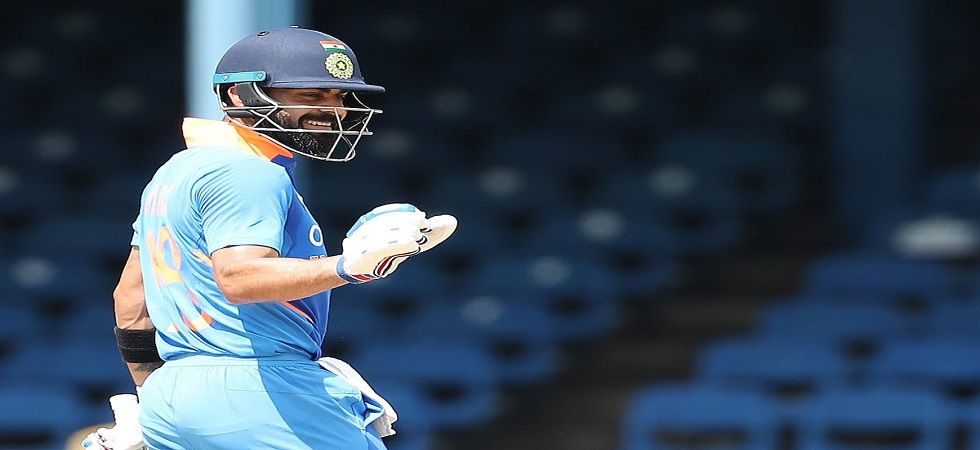 Virat Kohli blasted his 42nd century as India won the second ODI against West Indies. (Image credit: Twitter)