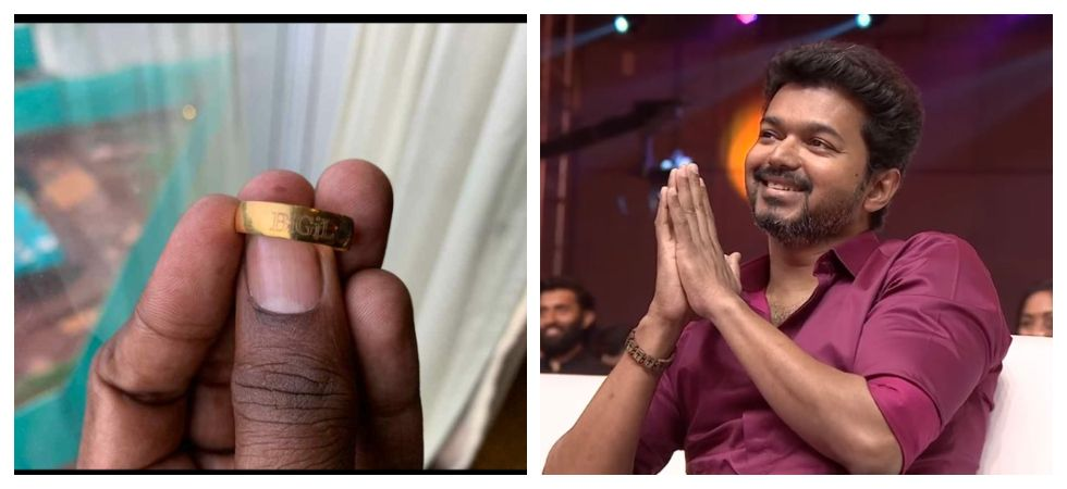 Vijay gifts customised gold ring to 400 members of 'Bigil' (Photo: Twitter)