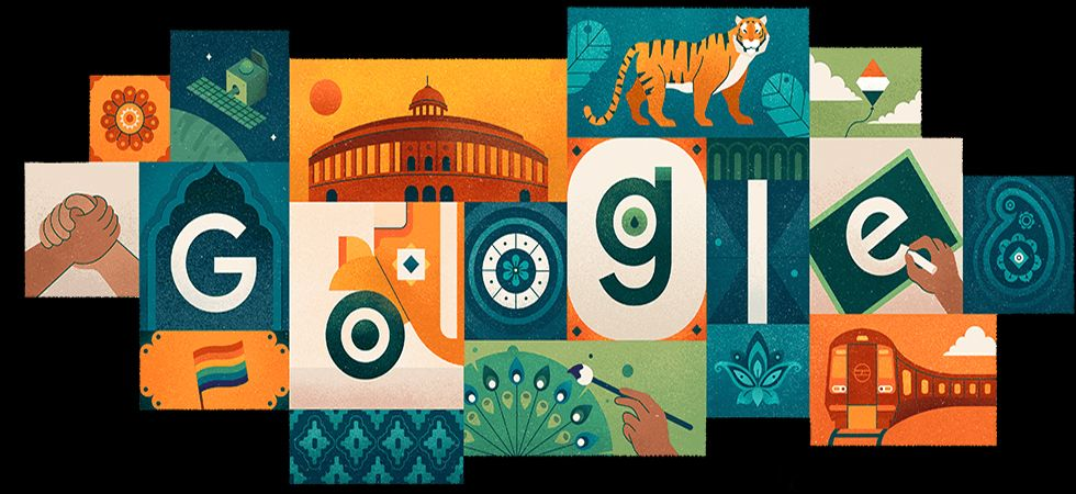 Google wishes India on 73rd Independence Day. (Image Credit: Google)