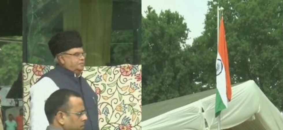 Independence Day Celebration: Governor Satya Pal Malik unfurls the national flag in Srinagar (Photo Credit: Twitter/ANI)