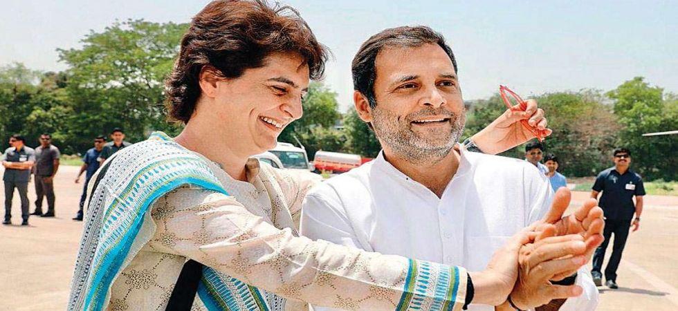 Congress general secretary Priyanka Gandhi with brother Rahul Gandhi (File Photo)