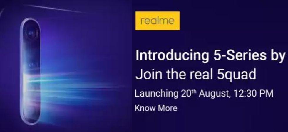 Realme 5-series model India launch (Photo Credit: Flipkart)