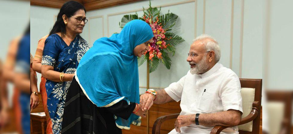 Triple talaq petitioner Ishrat Jahan ties rakhi to PM Narendra Modi