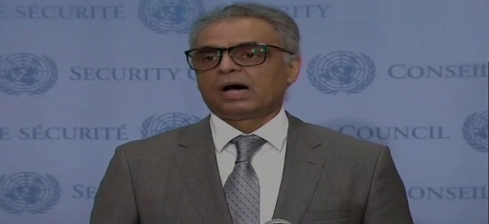 Syed Akbaruddin, India's permanent representative at the UNSC during a press conference after UNSC meeting on Kashmir.  (ANI Photo)